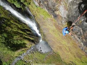 El barranco de trou de Fer, barranquismo Réunion.